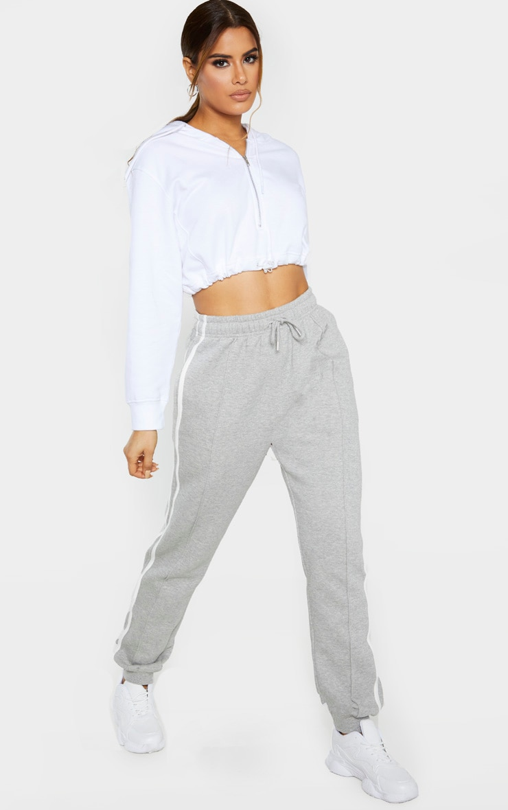 Tall Grey Double Side Stripe Jogger  1