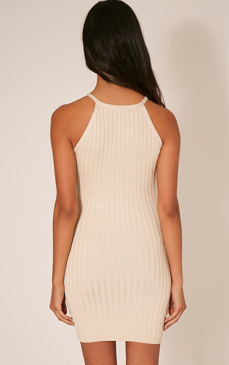 Kennedy Stone Zip Front Ribbed Knitted Mini Dress 2