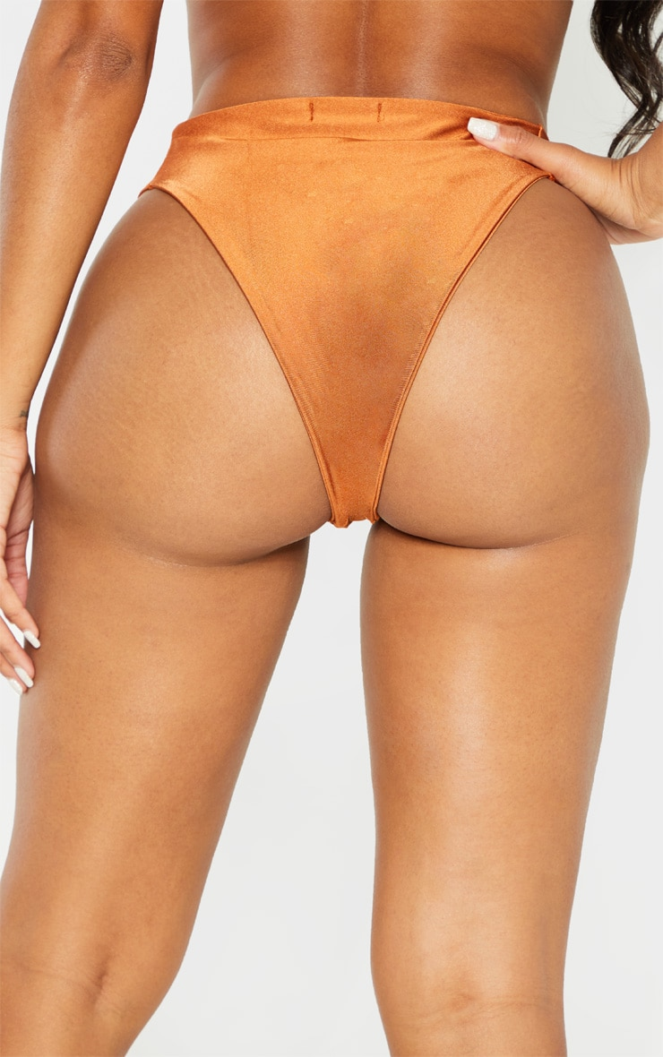 Shape Brown Seam Detail Bikini Bottom 4