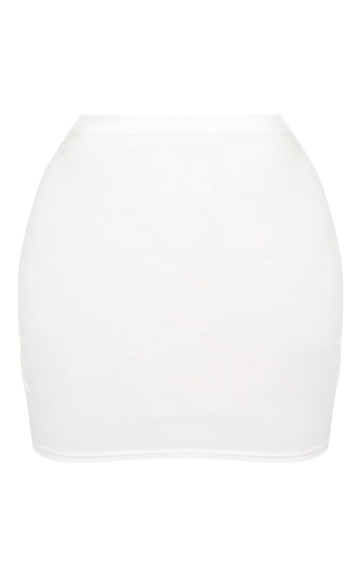 Shape - Jupe moulante taille haute en coton crème 3
