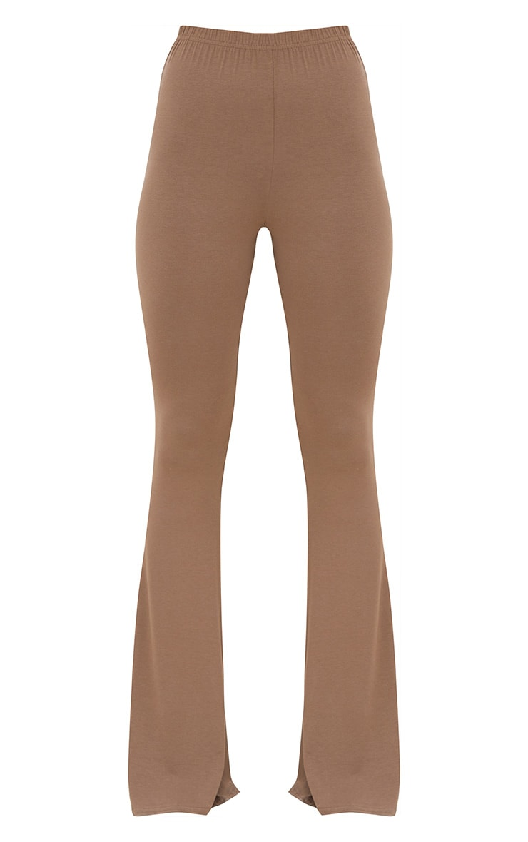 Mocha Jersey Flared Trousers 3
