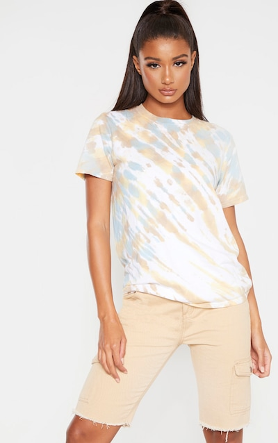 Biscuit Acid Washed T Shirt
