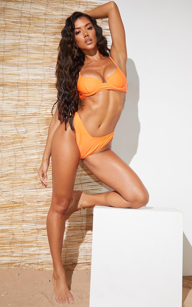 Recycled Orange Mix & Match Balconette Bikini Top 3