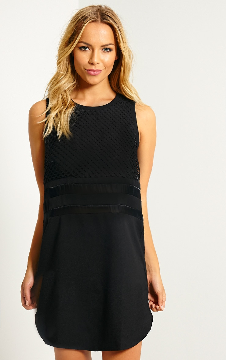 Tamsin Black Fishnet Shift Dress 4