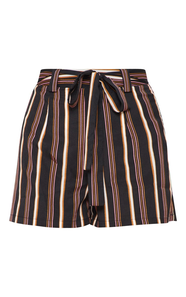 Rust Stripe Tie Waist Short 3