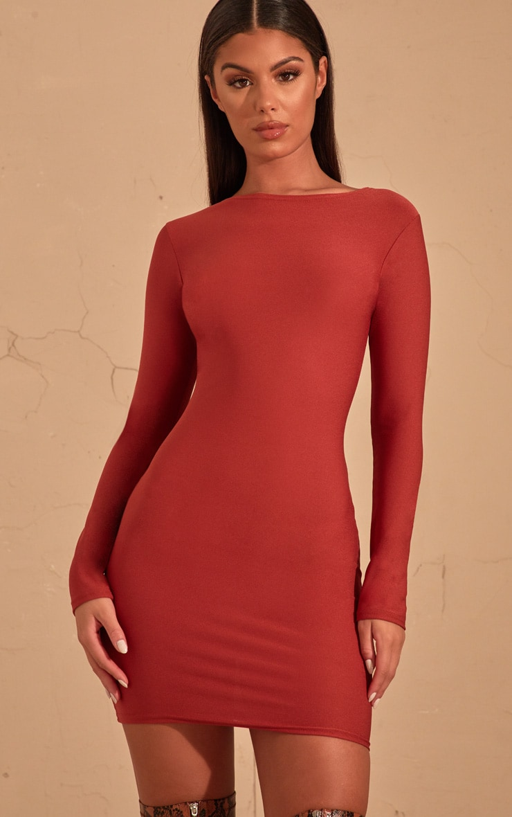 Auburn Long Sleeve Bodycon Dress  4