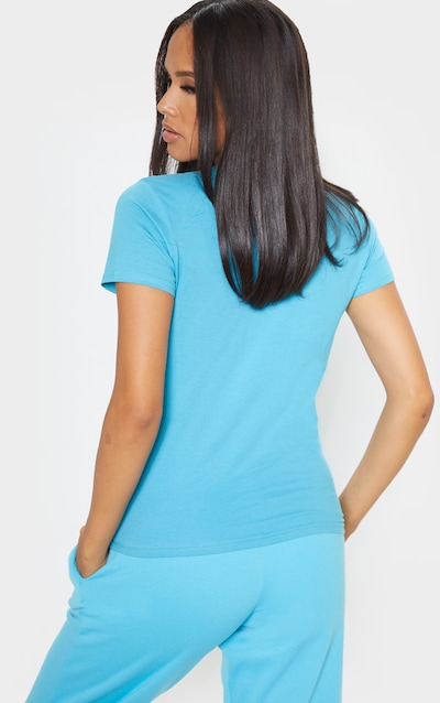 Baby Blue Fitted Short Sleeve T Shirt