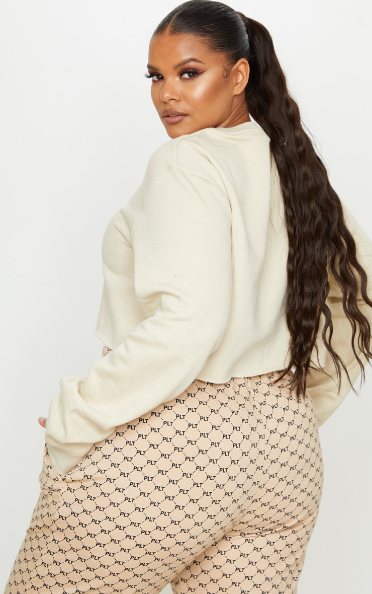 Plus Sand Ultimate Cropped Sweater 2
