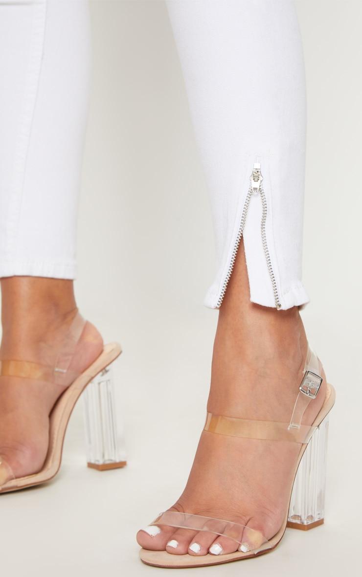 Petite White  Ankle Grazer Skinny Jean 5