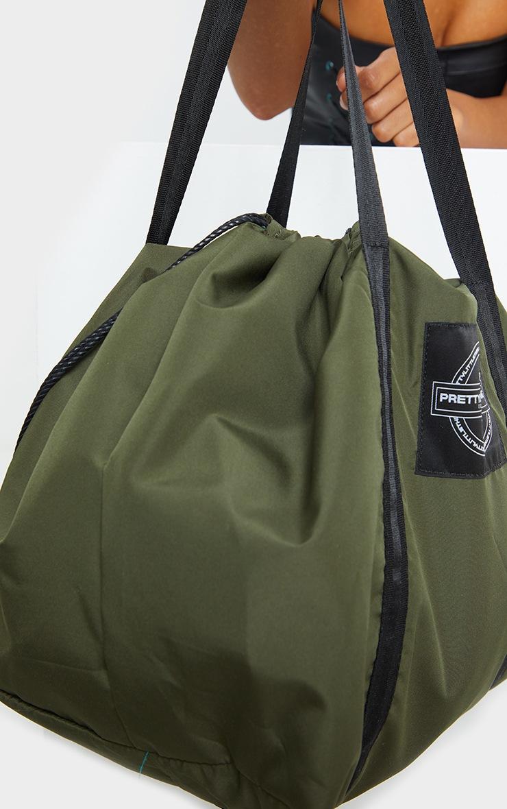 PRETTYLITTLETHING Khaki Utility Tote Bag 3