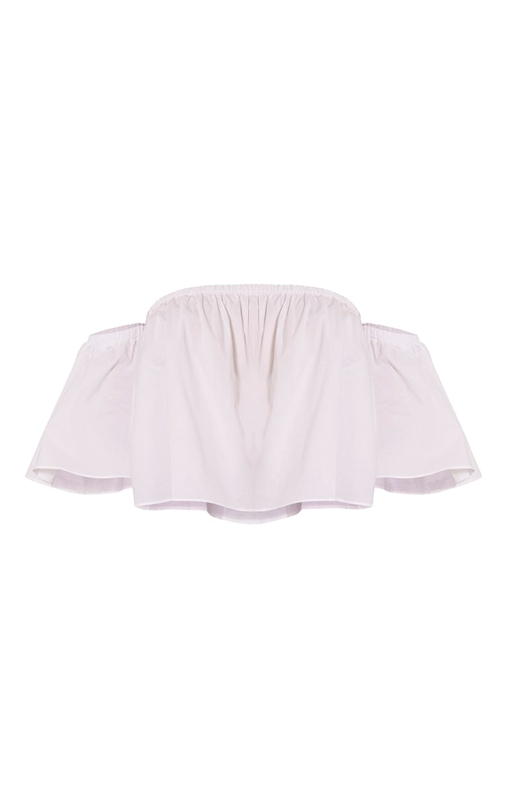 Pandora White Bardot Short Sleeved Crop Top 3