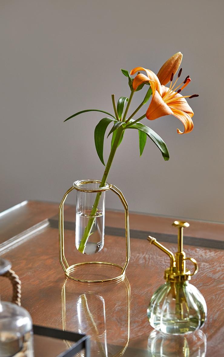 Gold Tube Frame Vase 1