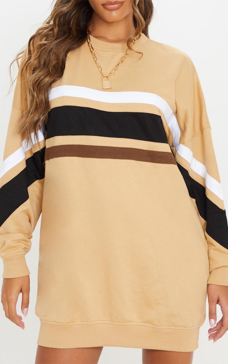 Biscuit Contrast Stripe Detail Sweat Dress 5