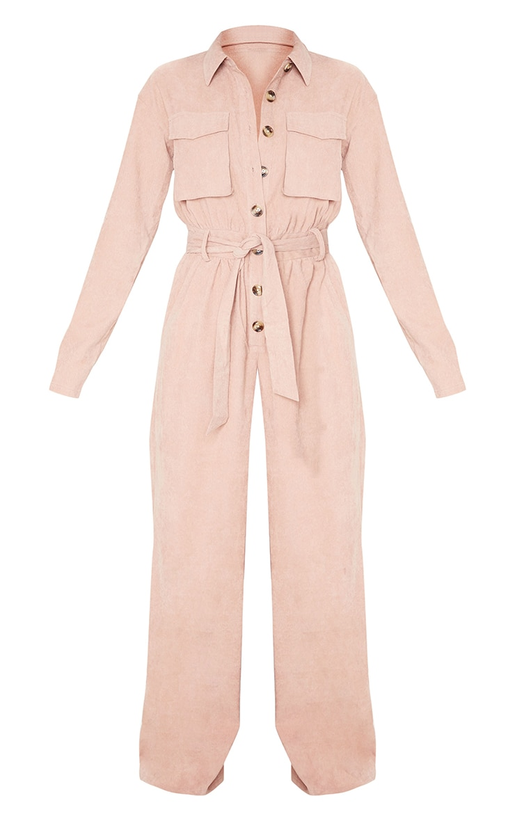Blush Cord Pocket Detail Utility Jumpsuit 5