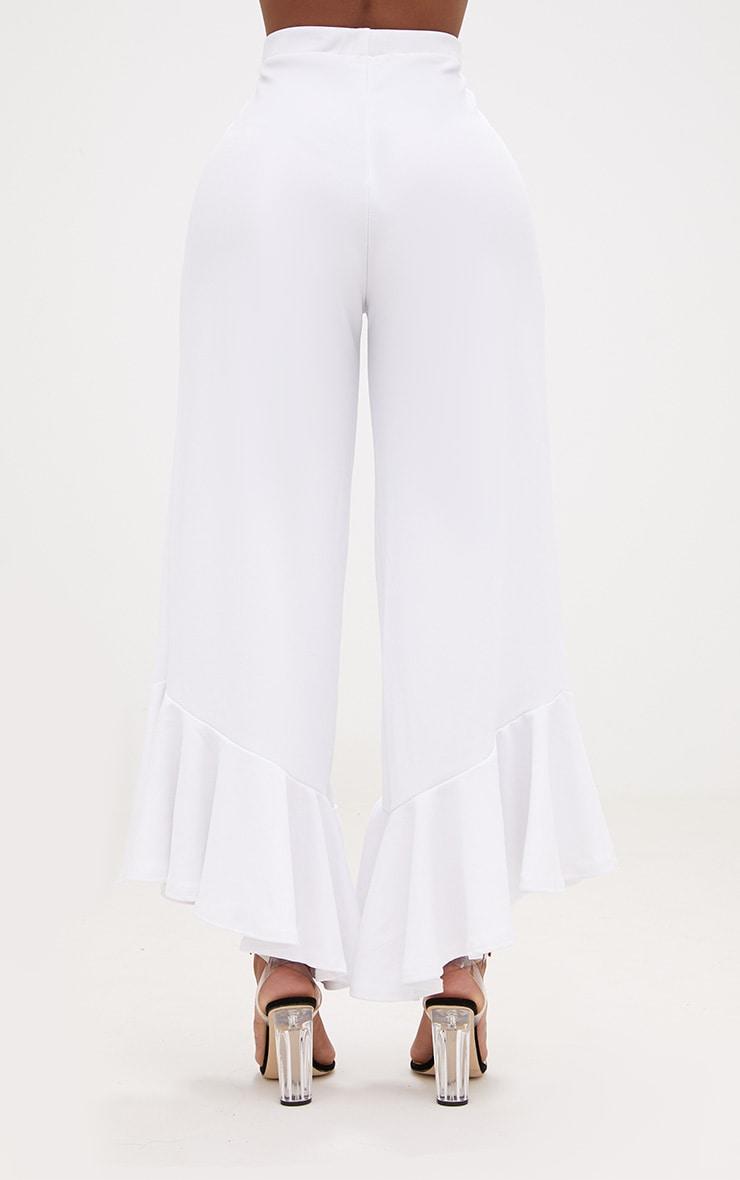 Shape Carmelia White Frill Hem Trousers 4