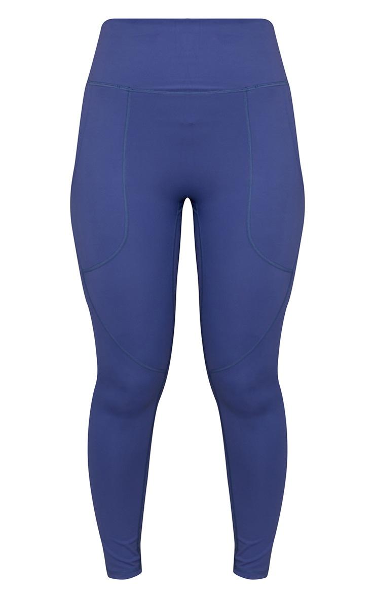 Legging bleu Sculpt Luxe à détail poches 5