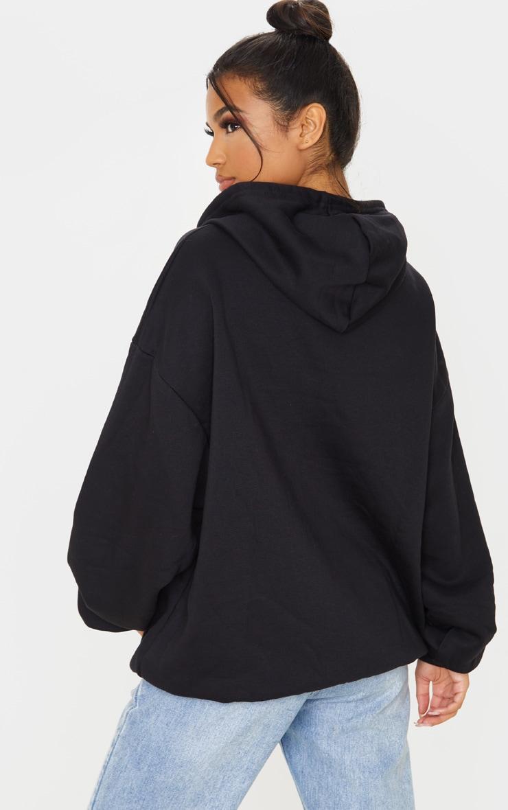 Hoodie oversize noir classique 2