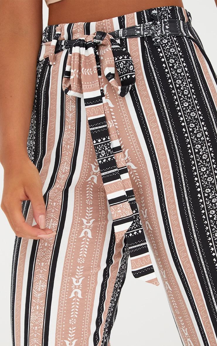 Camel Printed Stripe Longline Culottes 4