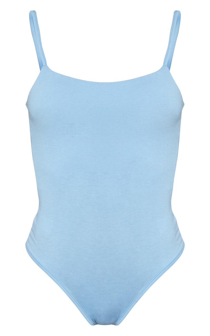 Body jersey bleu ciel à bretelles 5