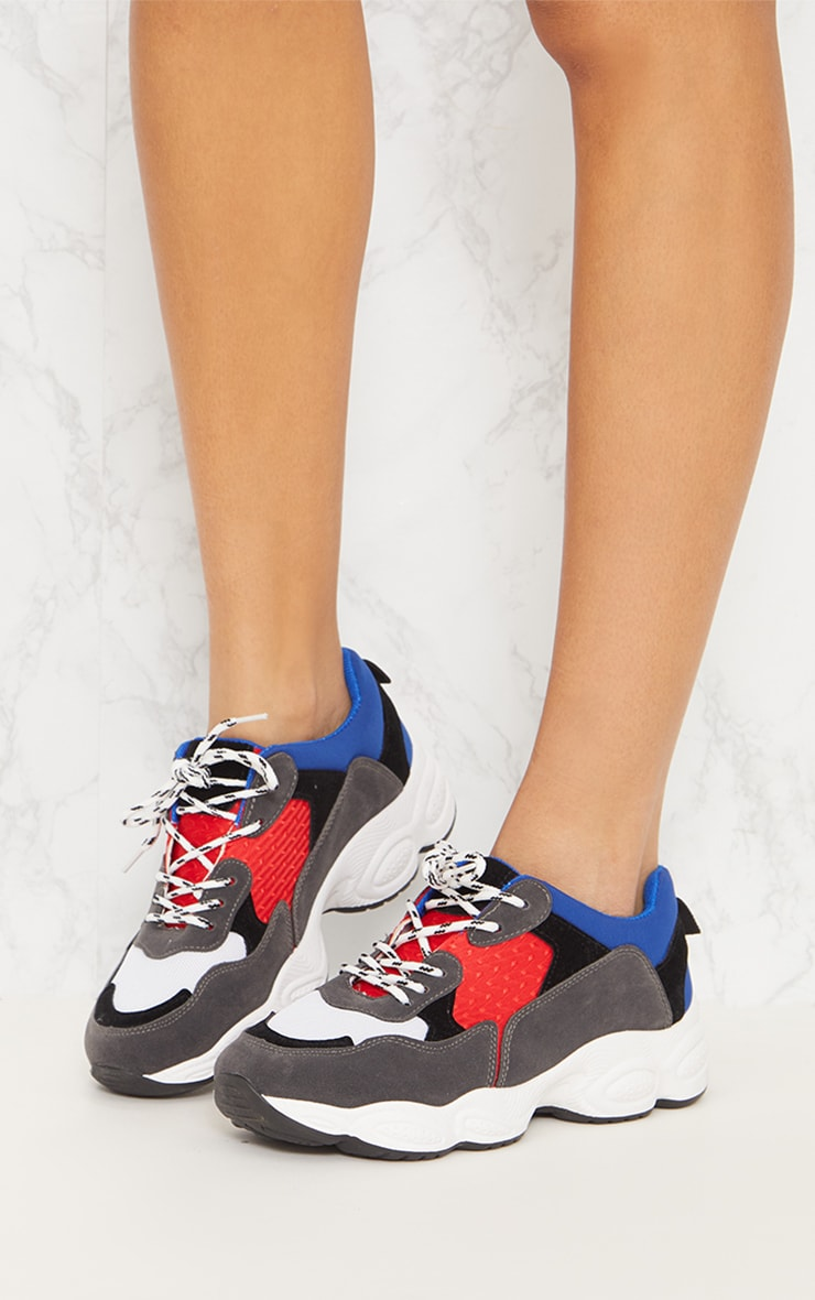 Blue Chunky Trainers 2