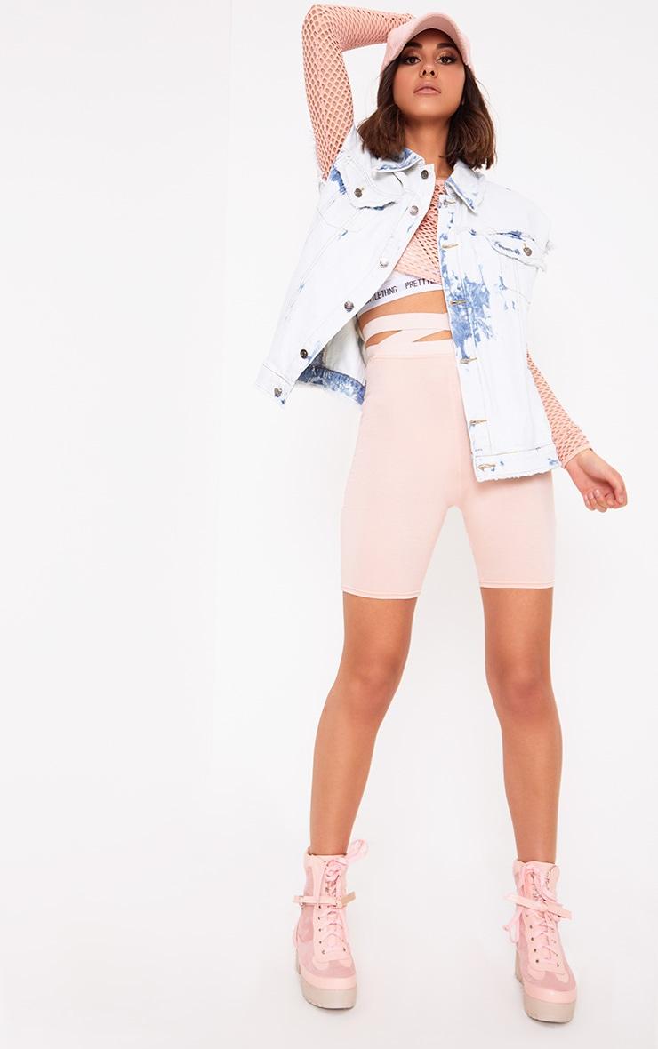 Siann veste en jean sans manches aspect vieilli délavée et blanchie 4
