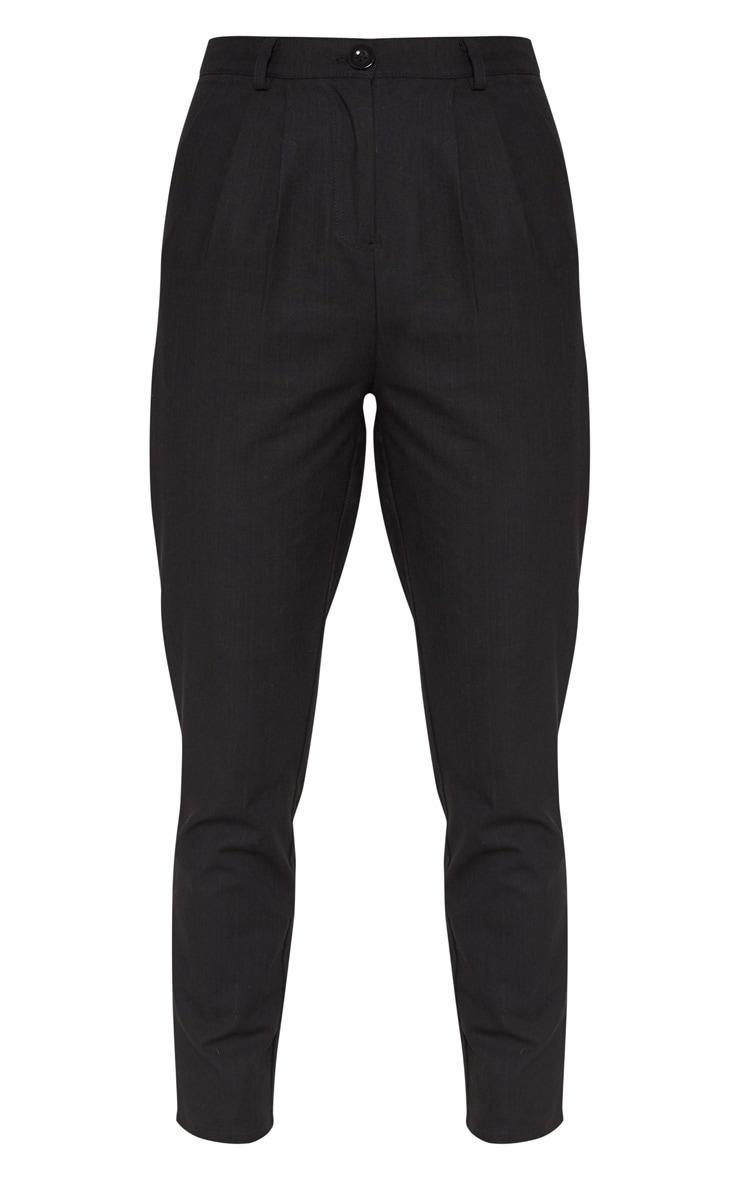 Black Pleat Front Cigarette Trouser 3