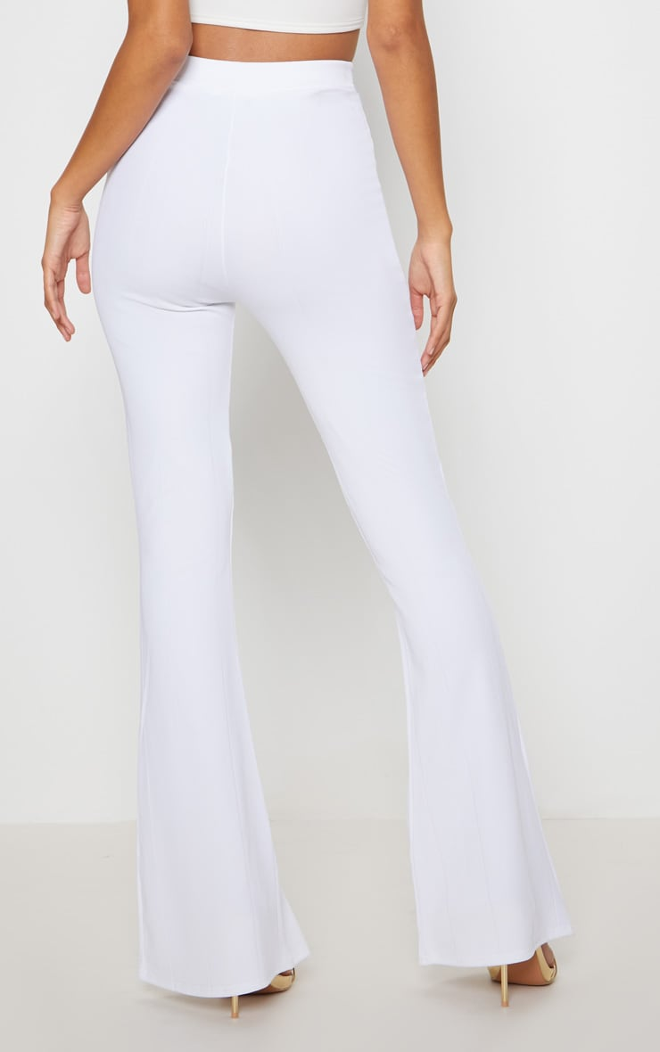 White Bandage Flared Trouser 4