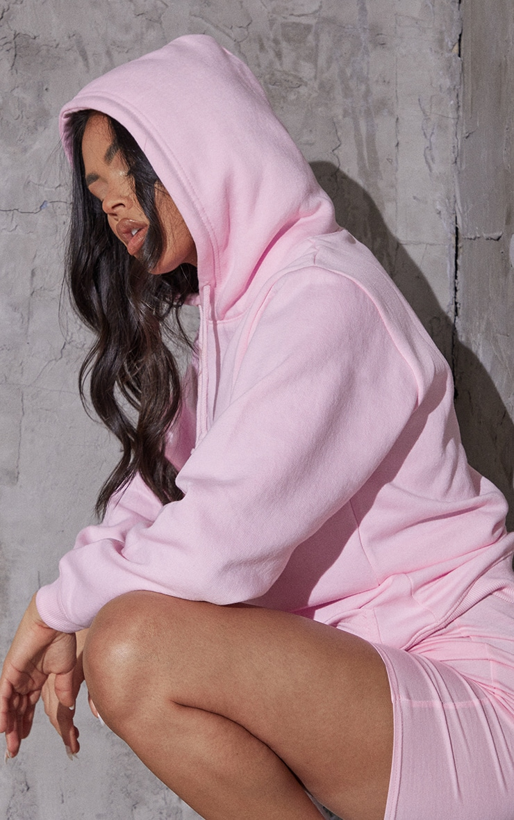 Recycled Baby Pink Oversized Sweat Hoodie 4