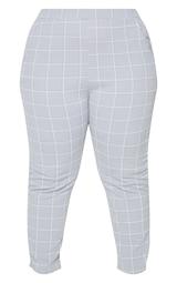 Plus Grey Tweed Check Skinny Pants 5