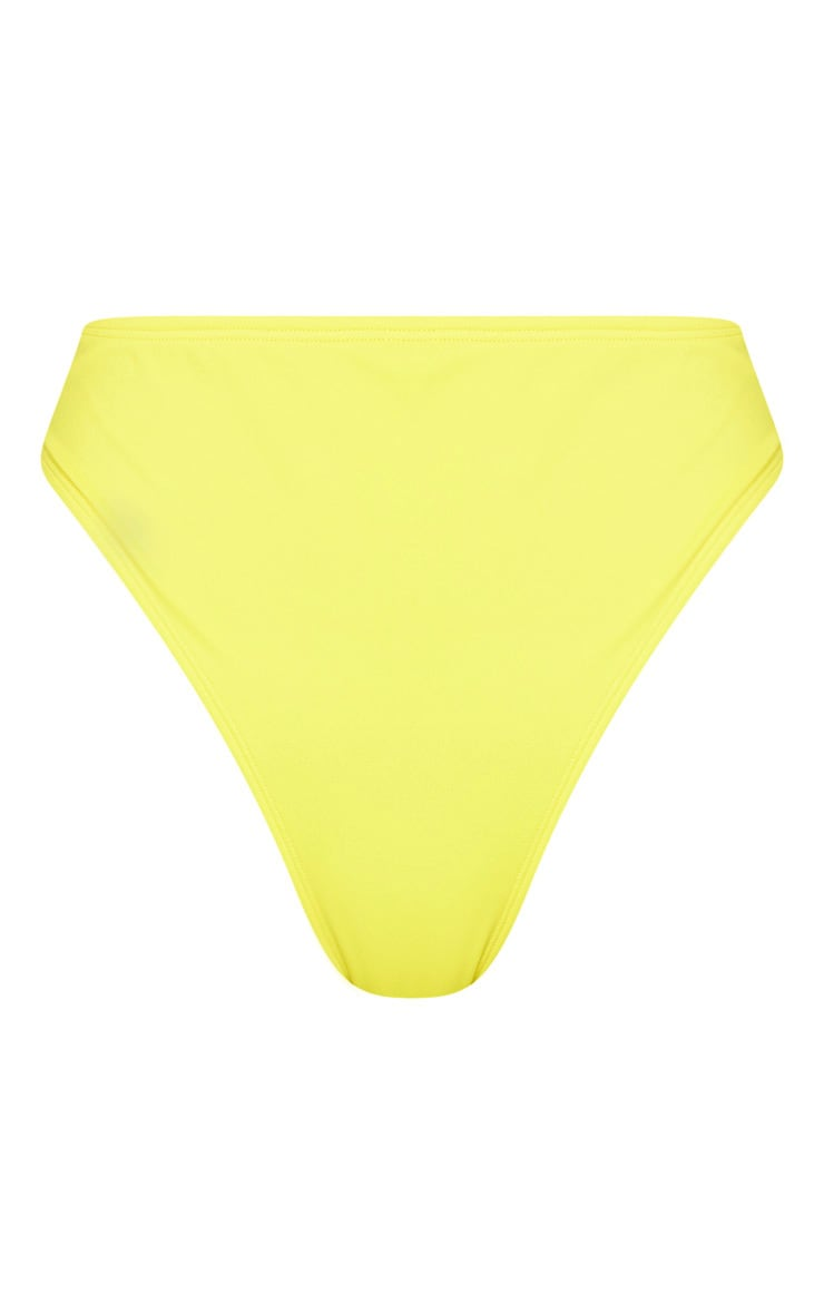 Yellow High Waist Cheeky Bum BikiniBottom 3