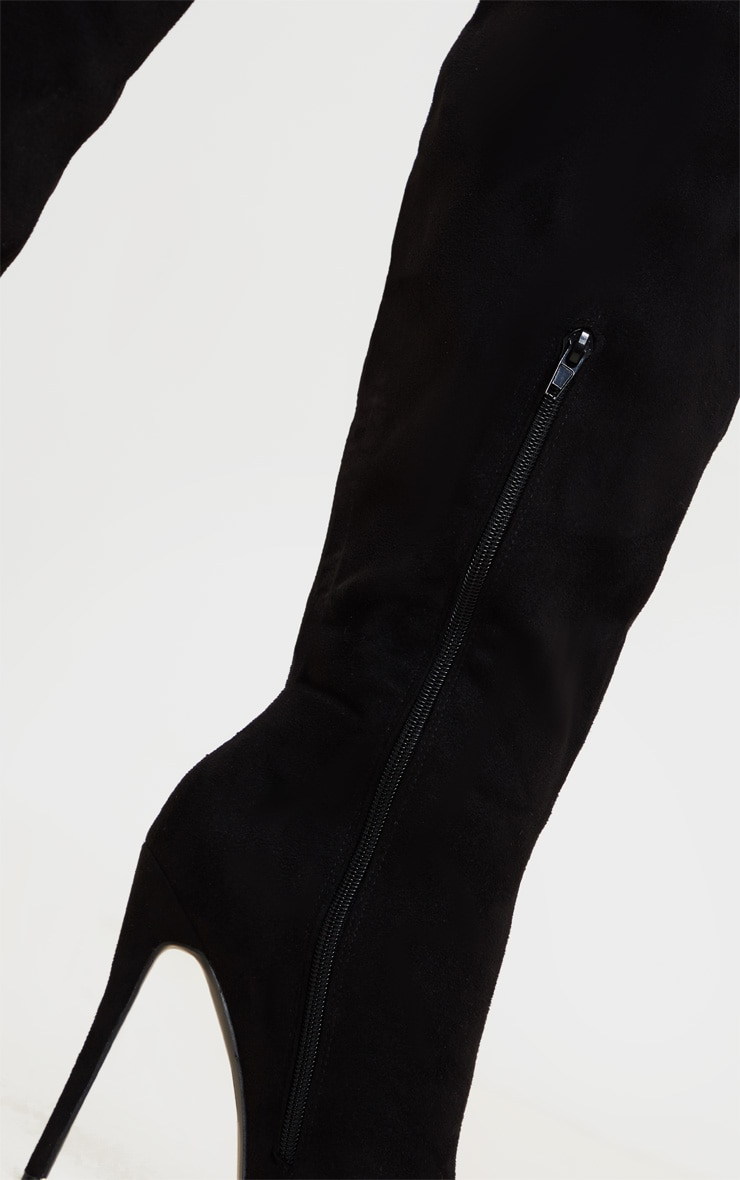 Black Point Toe Stiletto Knee High Boots 3