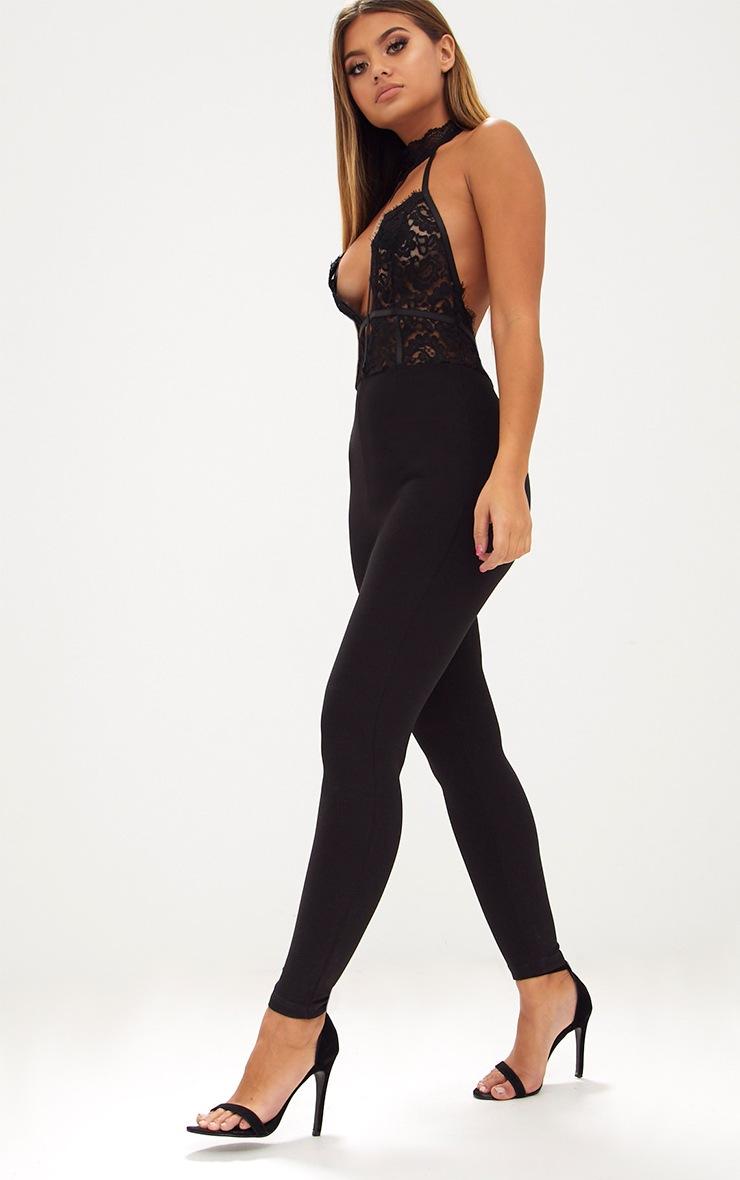 Black Lace Harness Jumpsuit 4