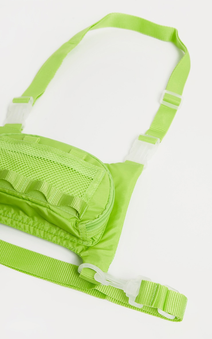 Lime Nylon Mini Utility Front Bag 2