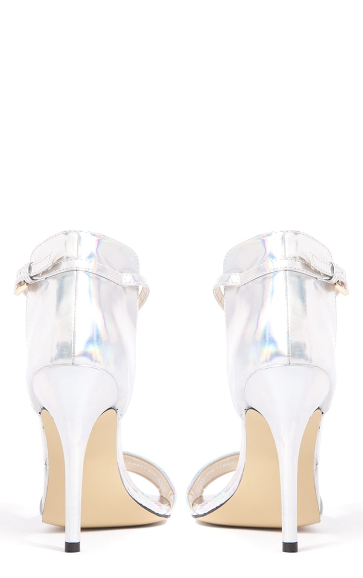 Luna Hologram Stiletto Sandals 2