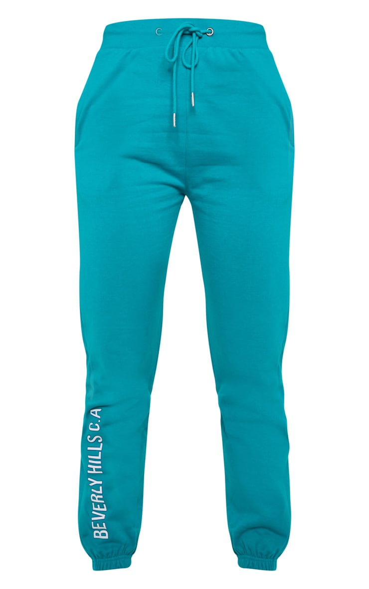 Teal Beverly Hills Slogan Jogger 3