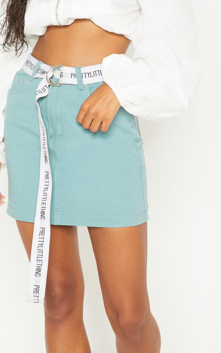 Green Denim Skirt 6