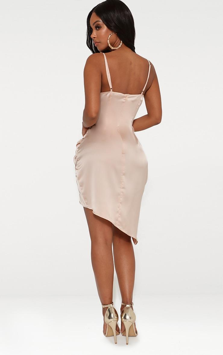 Shape Champagne Satin Wrap Dress 2