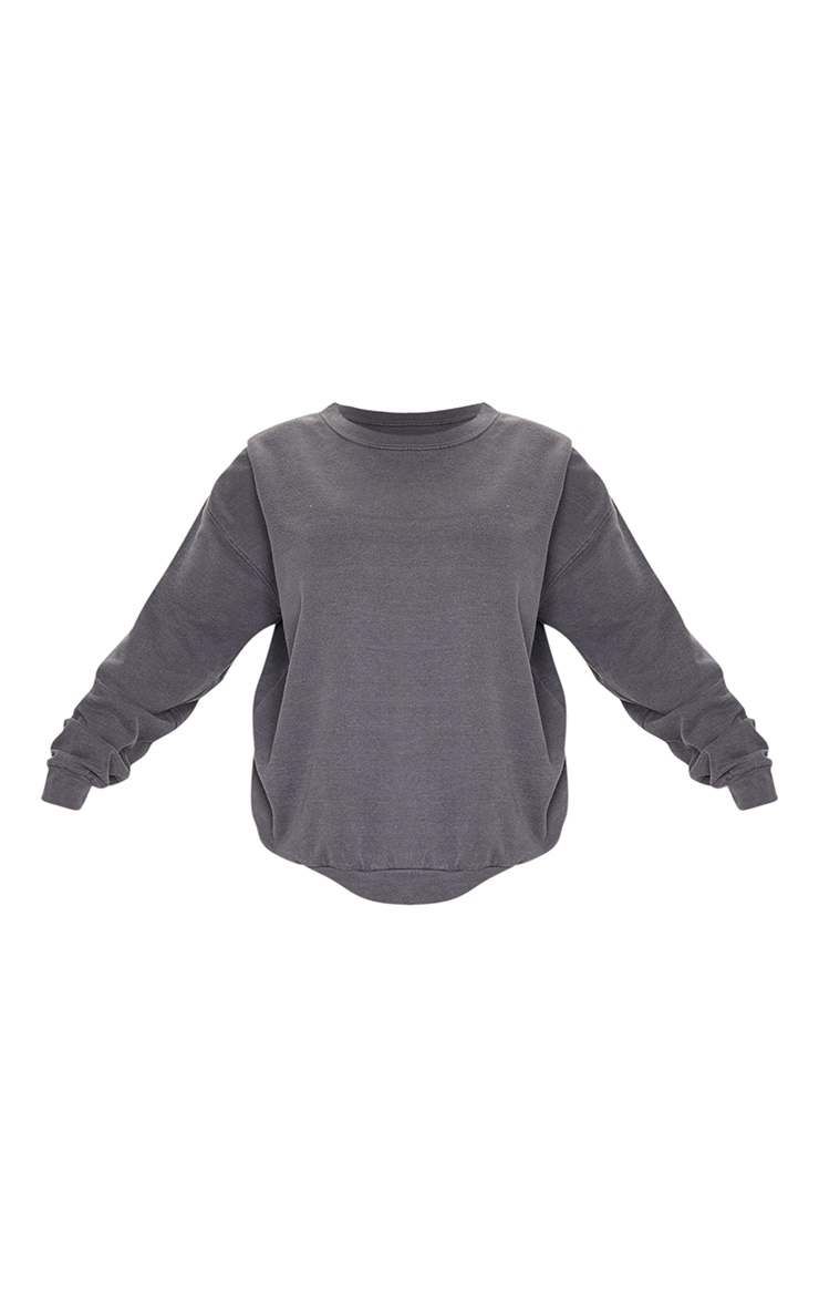 Charcoal Washed Sweatshirt 5