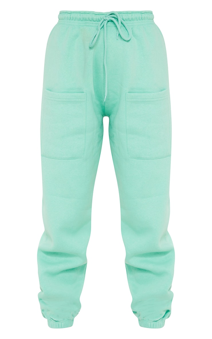 Petite Green Pocket Thigh Casual Joggers 5