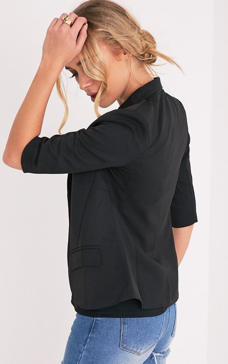 Anais Black 3/4 Length Sleeve Blazer 4