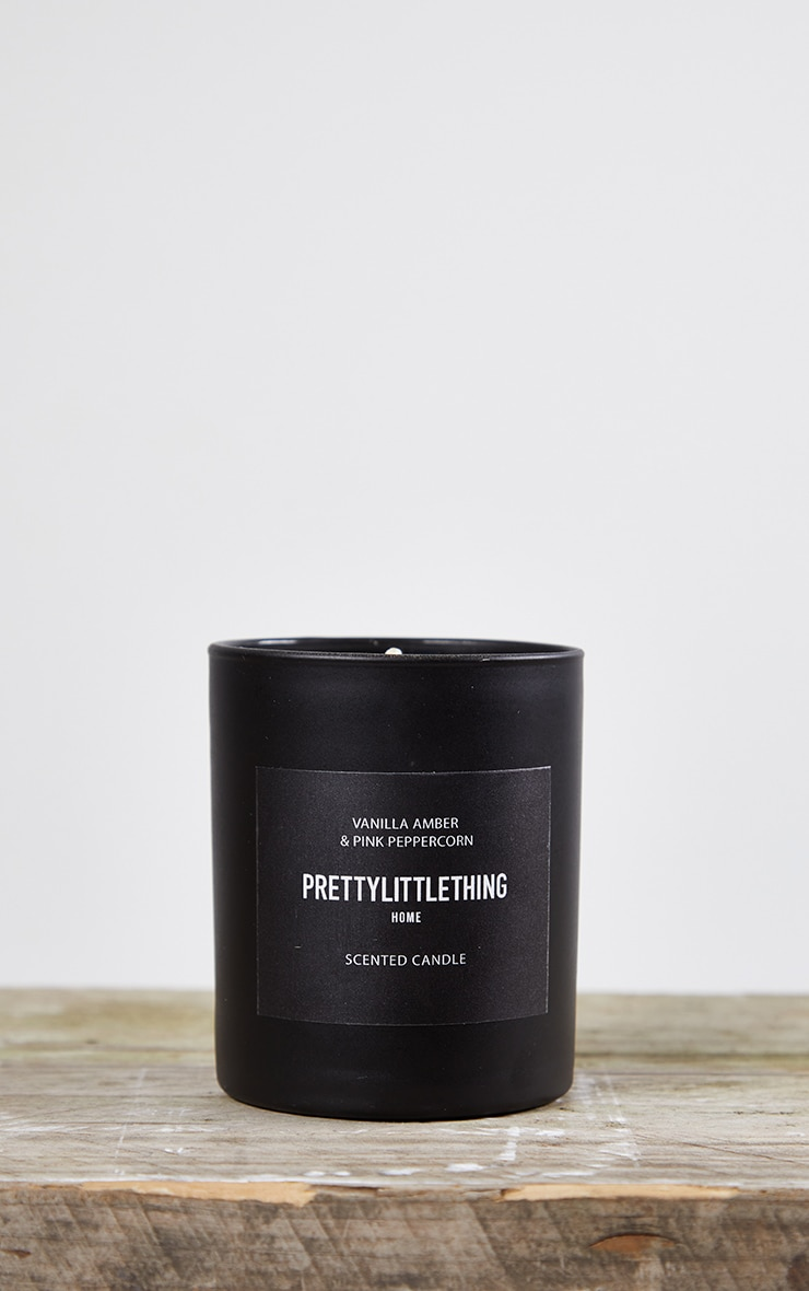PRETTYLITTLETHING Amber Noir Scented Glass Candle 3