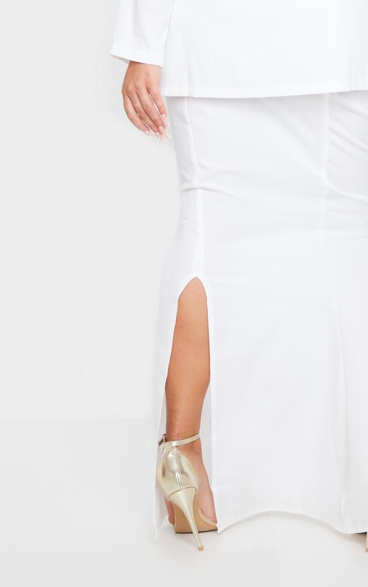 Plus Cream Woven Maxi Skirt 4