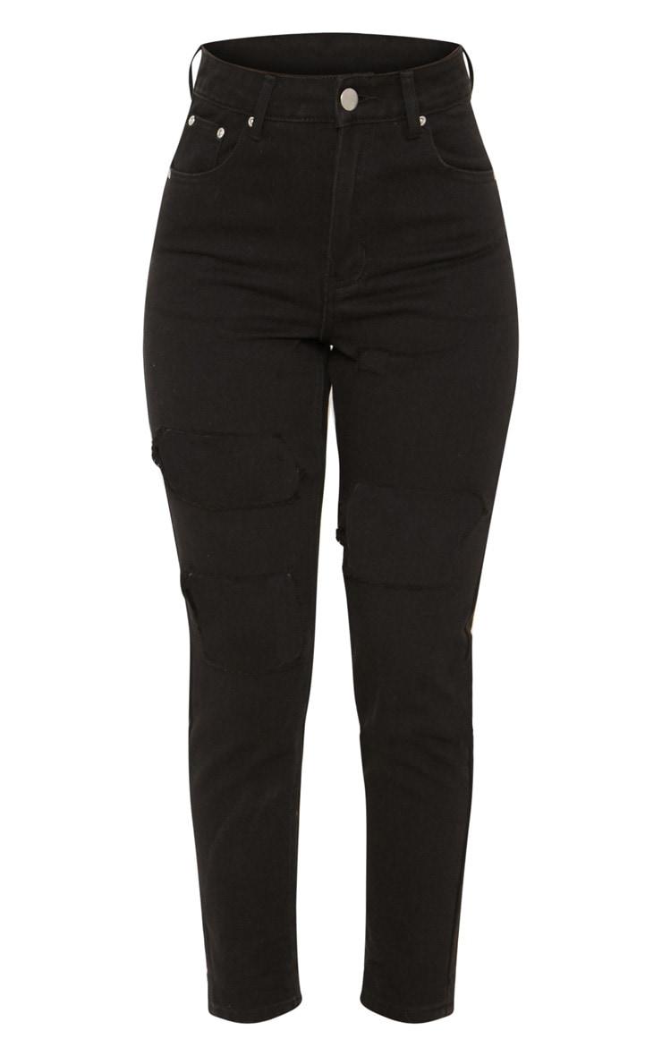 Black Extreme Rip Straight Leg Jean 3