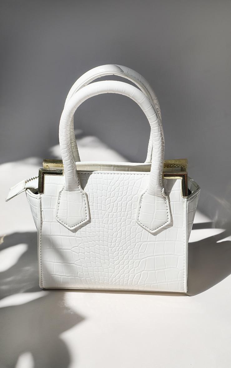 White Croc Mini Grab Bag 2