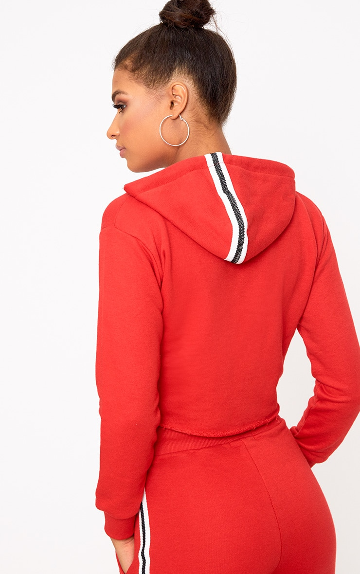Red Side Stripe Hoodie 2