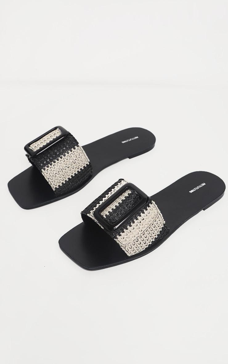 Mono Stripe Buckle Mule Sandal 3