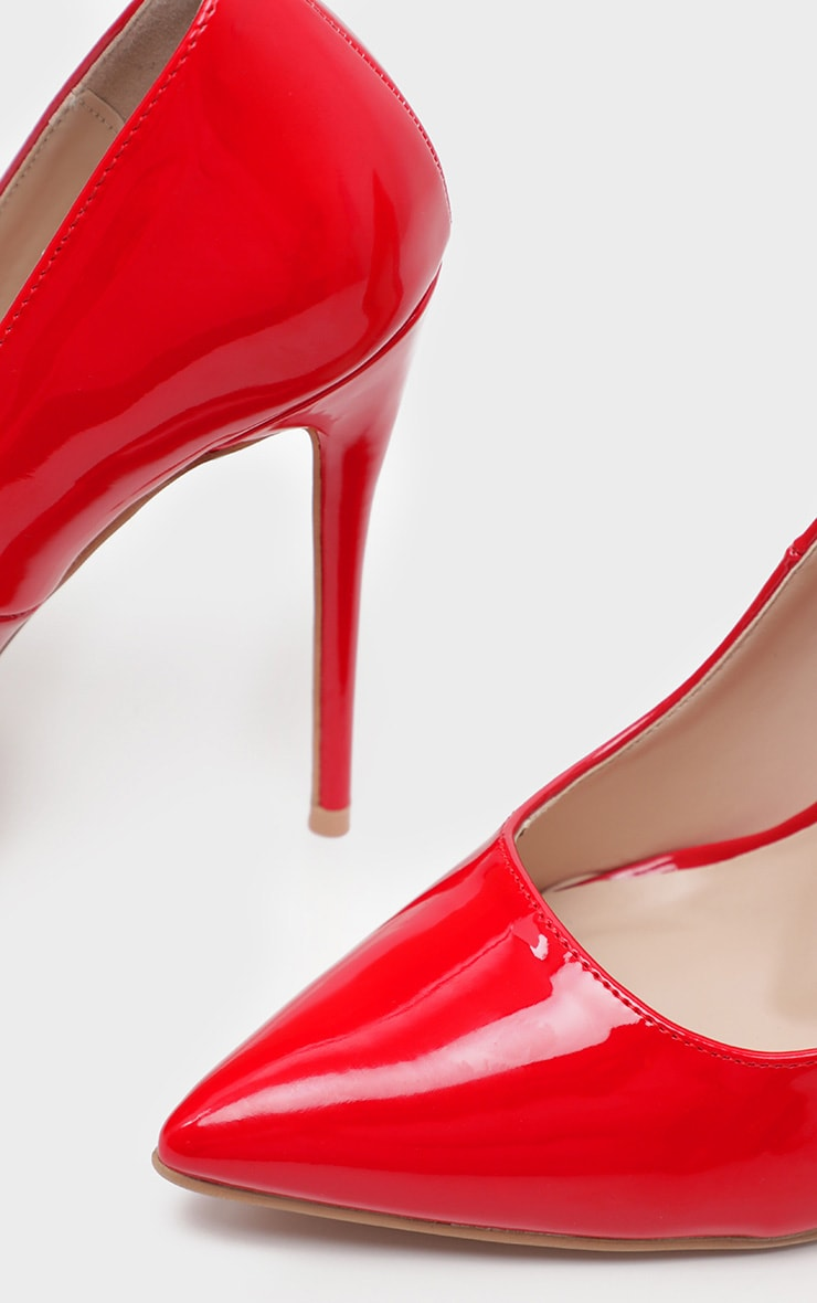 Red Wide Fit Court Shoes 4