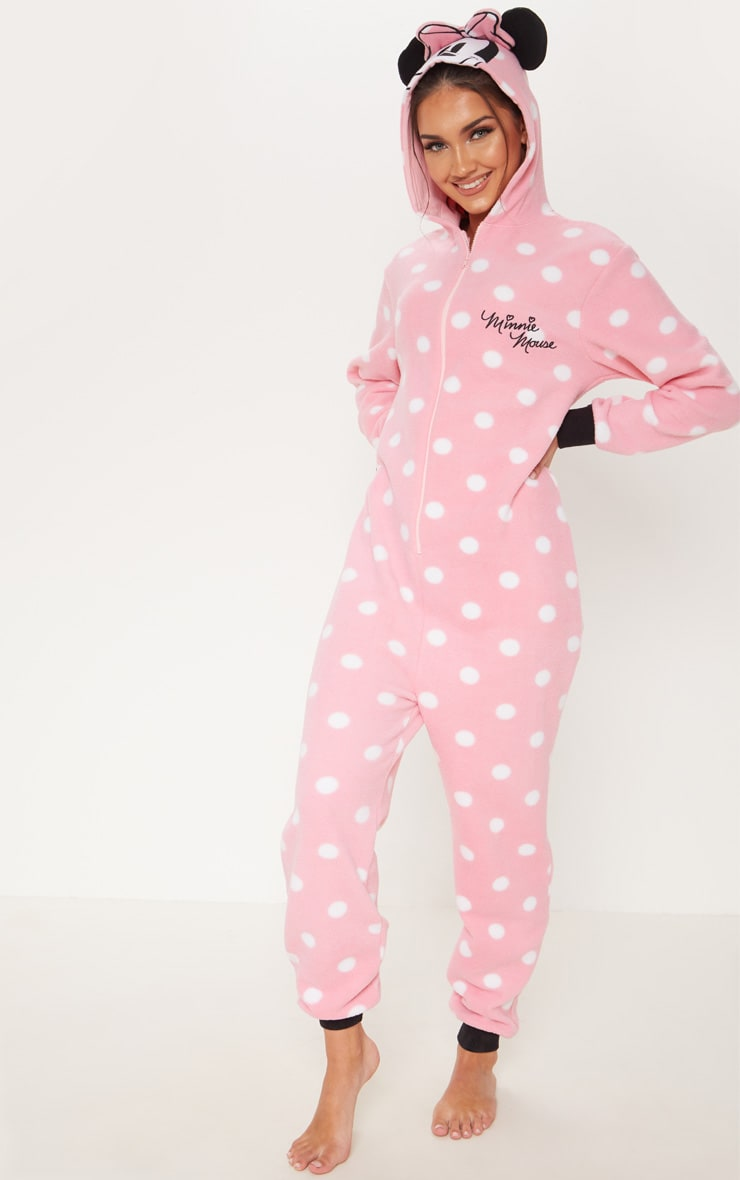 Pink Disney Minnie Mouse Polka Dot Onesie 4