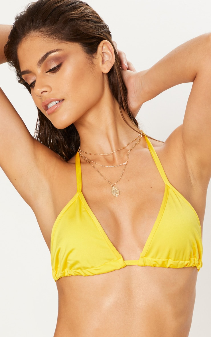 Yellow Mix & Match Tie Side Bikini Bottom 5