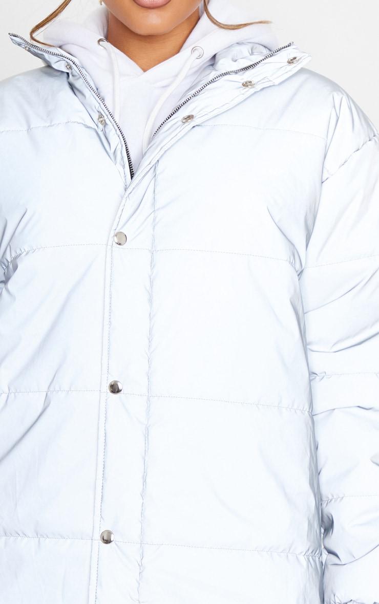 Silver Reflective Puffer Jacket 5